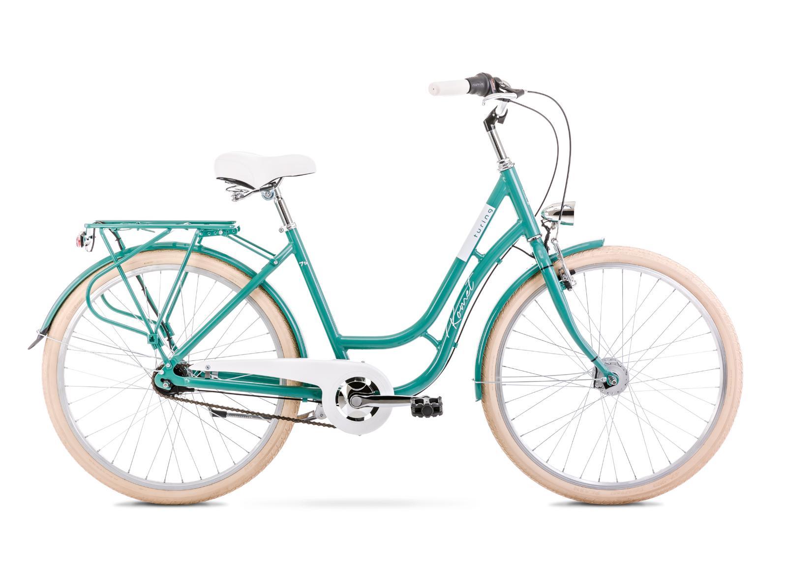 Naisten kaupunkipyörä 18 M TURING 7S turkoosi