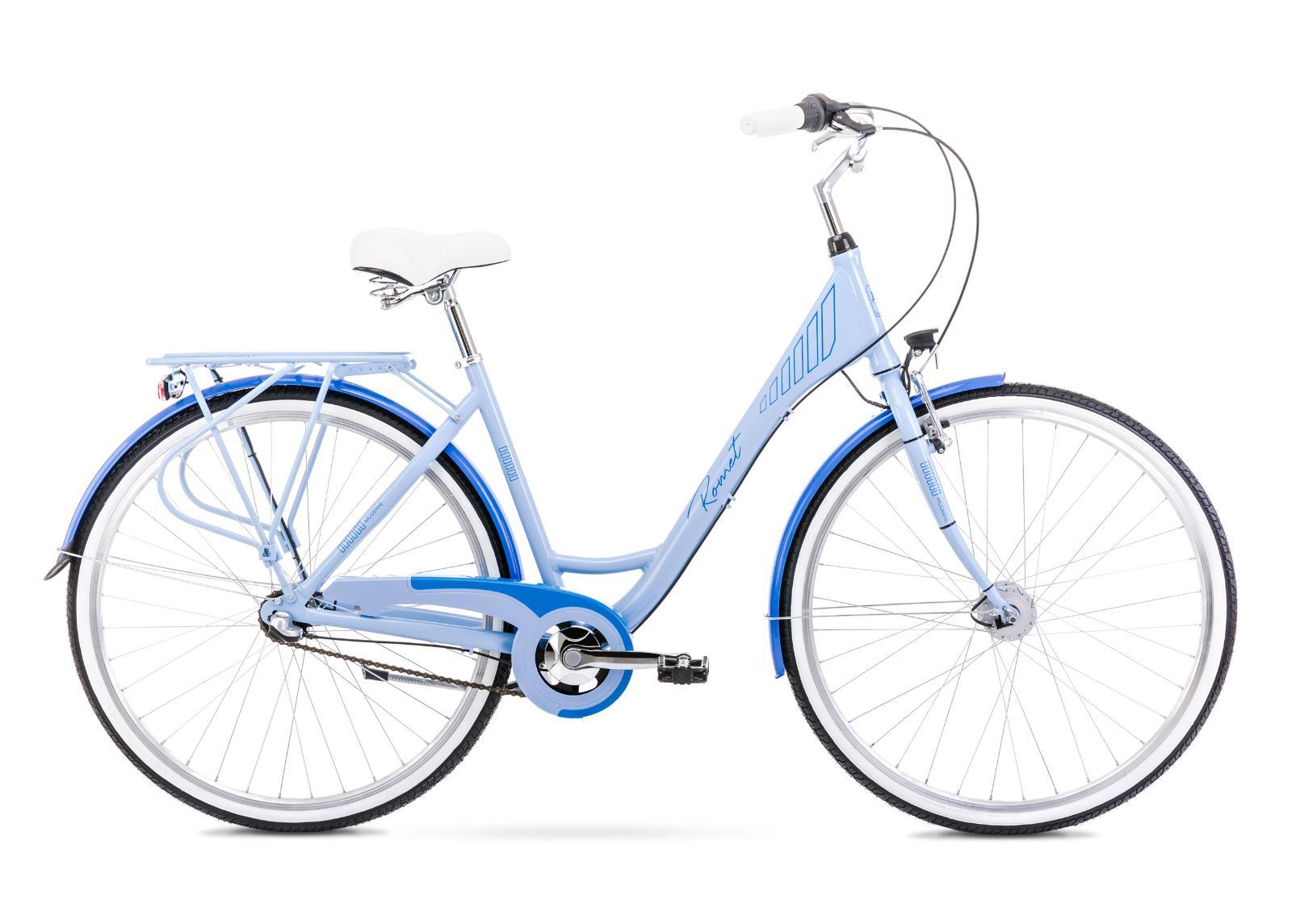 Naisten kaupunkipyörä 19 L MODERNE 3 sininen