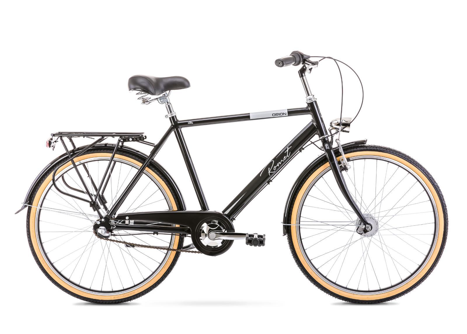 Miesten kaupunkipyörä 20 L ORION 3S musta