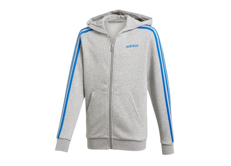 Lasten huppari Adidas Essentials 3S Full Zip Hoodie JR DX2472
