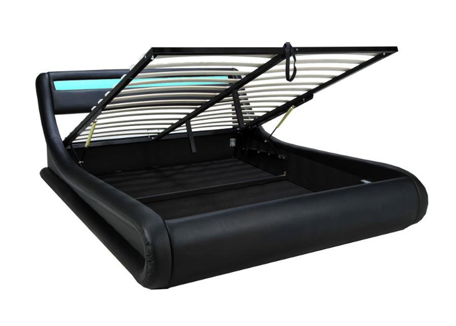 Sänky vuodevaatelaatikoilla Surf 160x200 cm + LED