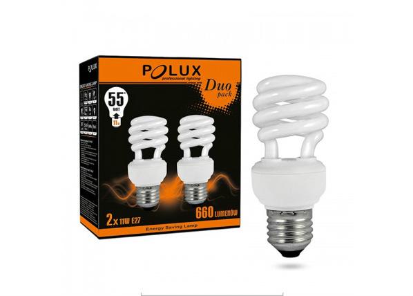 LED-lamppu E27 11 W 2 kpl