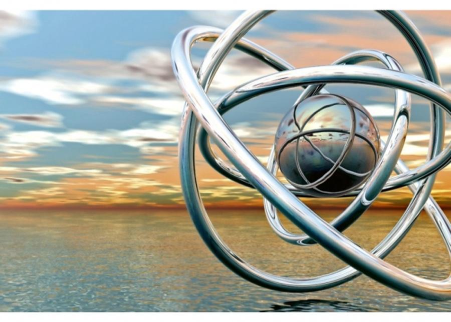 Fleece-kuvatapetti Abstract balls 225x250 cm