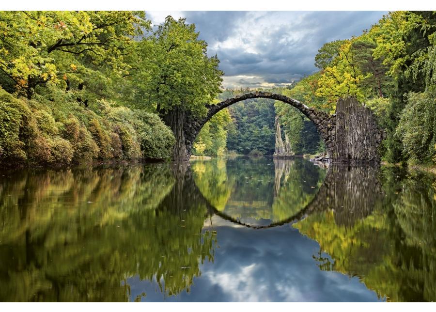 Fleece-kuvatapetti Arch bridge 375x150 cm