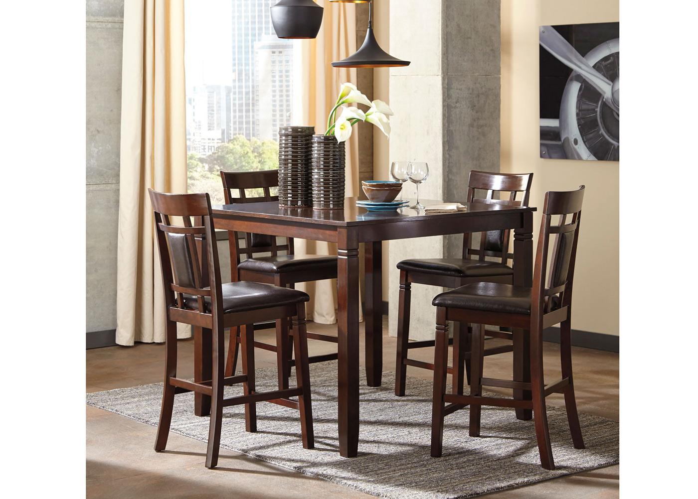 Baaripöytä 107x107 cm + 4 tuolia
