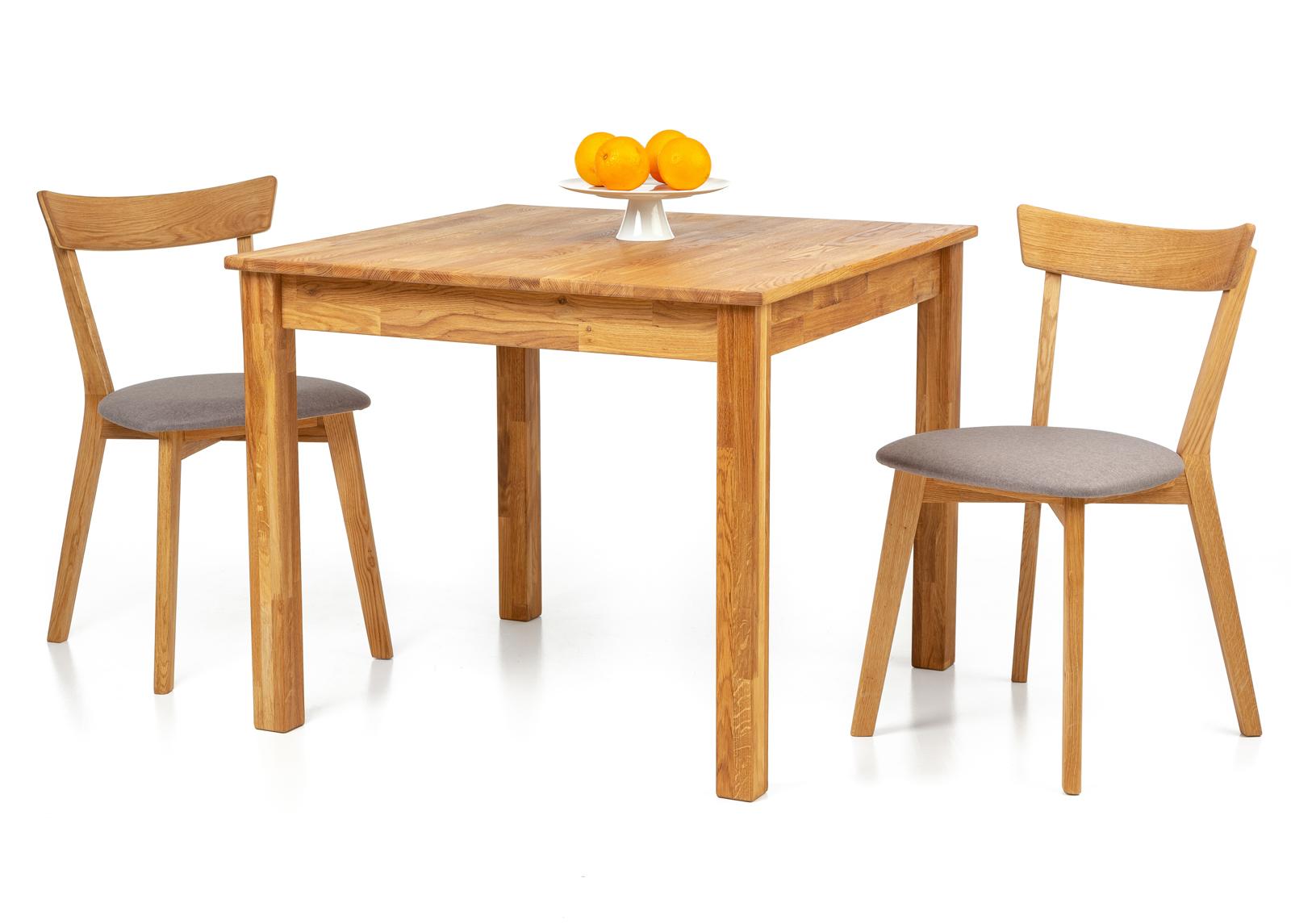 Tammi ruokapöytä Lem 90x90 cm + 2 tuolia Viola harmaa