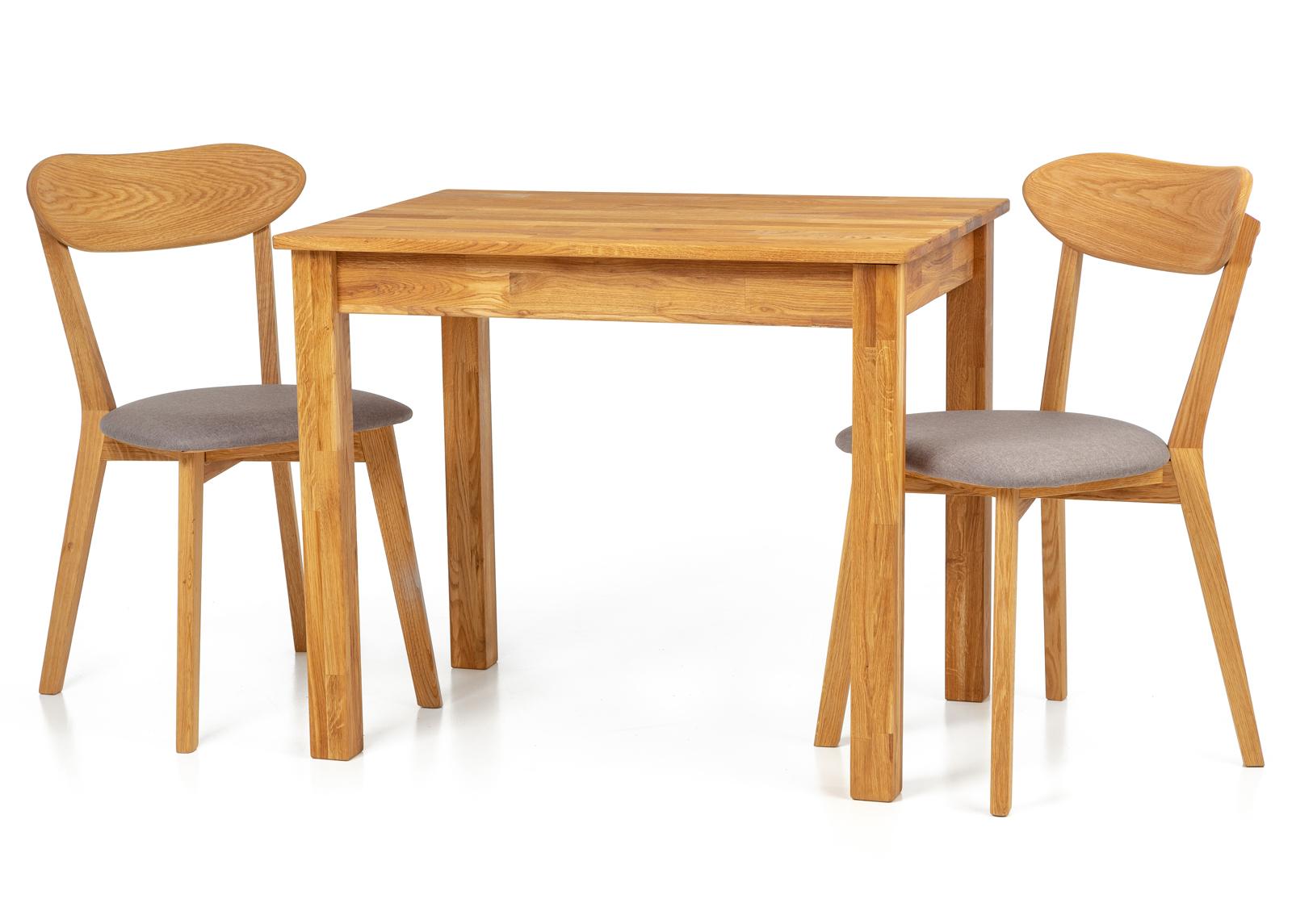 Tammi ruokapöytä Len22 90x65 cm + 2 tuolia Irma harmaa