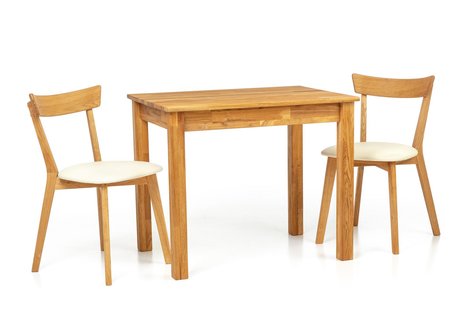Tammi ruokapöytä Len23 90x65 cm + 2 tuolia Viola beige