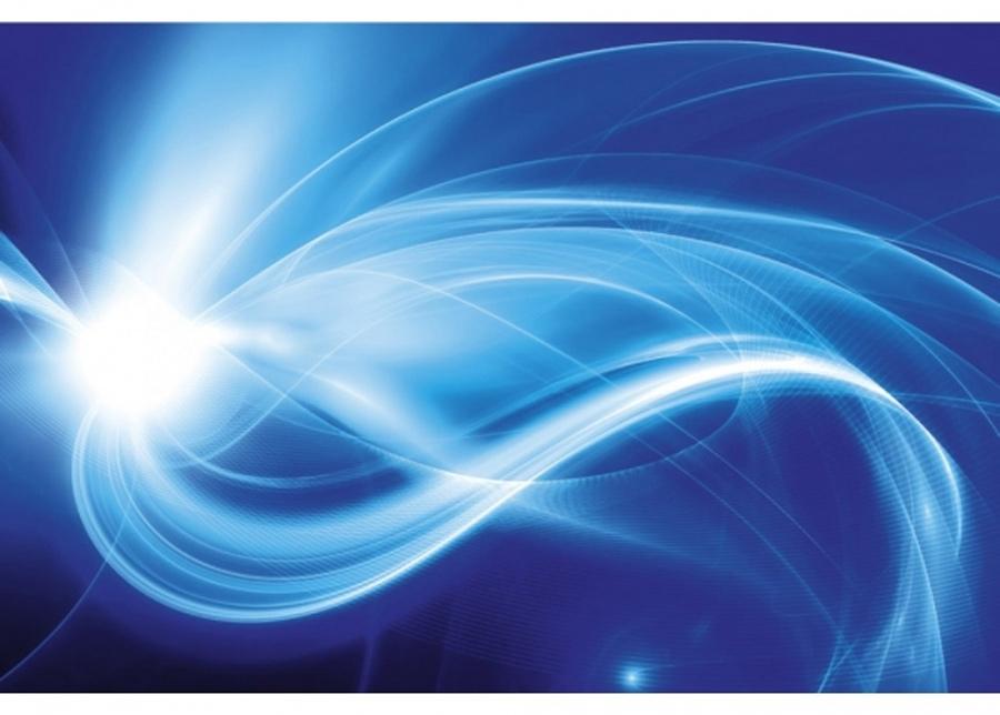 Fleece-kuvatapetti Blue abstract 375x150 cm