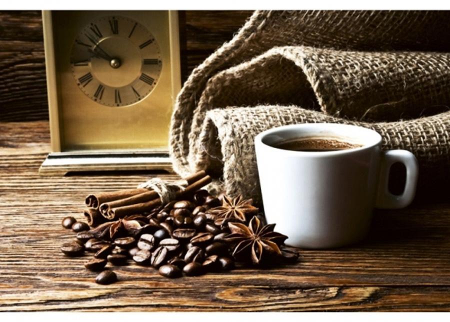 Fleece-kuvatapetti Cup of coffee 150x250 cm