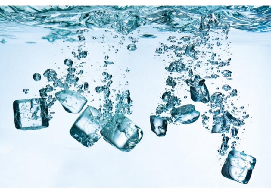 Fleece-kuvatapetti Ice cubes 150x250 cm