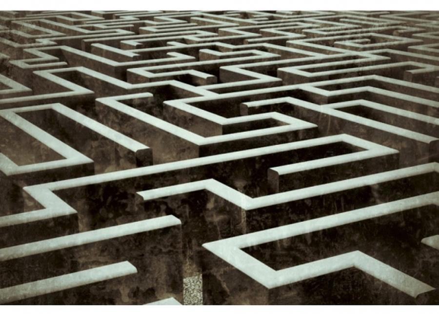 Fleece-kuvatapetti Labyrinth 225x250 cm