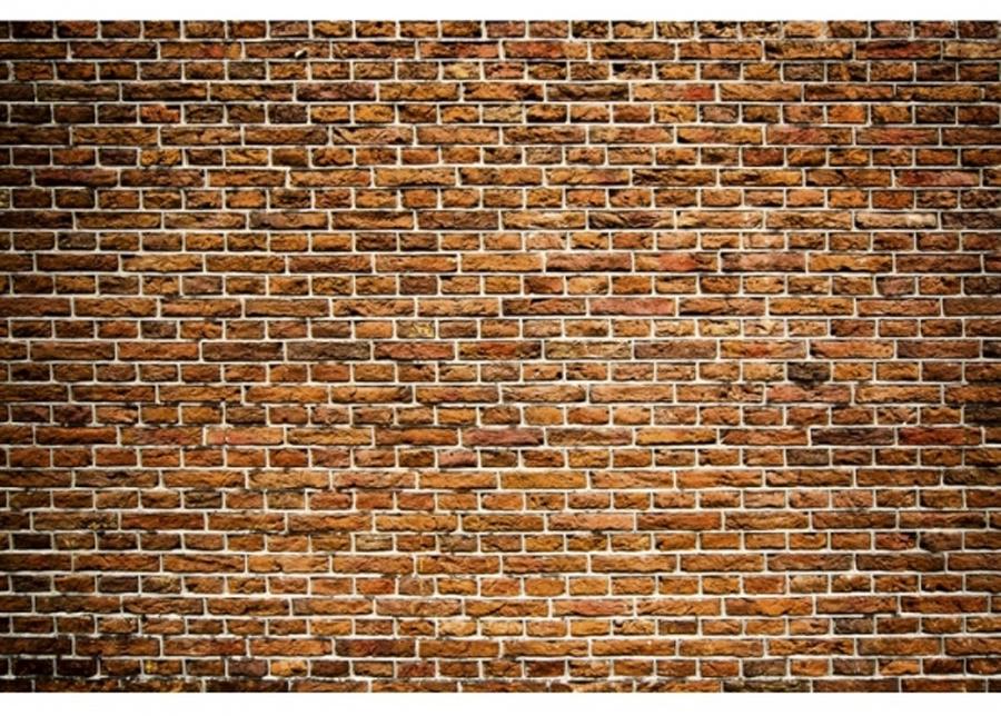 Fleece-kuvatapetti Old brick 375x150 cm