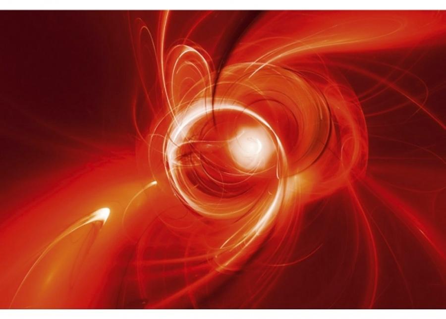 Fleece-kuvatapetti Red abstract 150x250 cm
