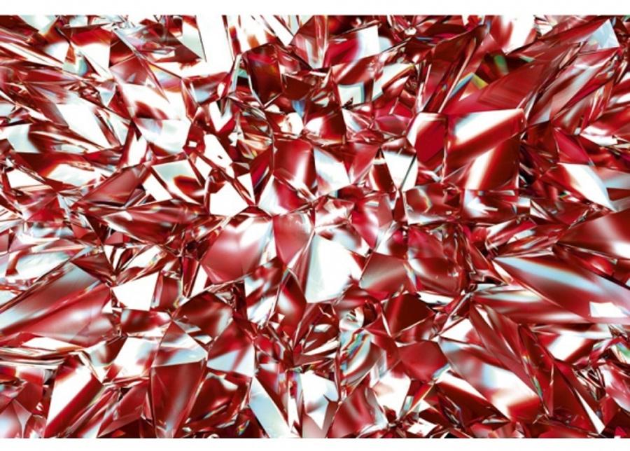 Fleece-kuvatapetti Red crystal 150x250 cm