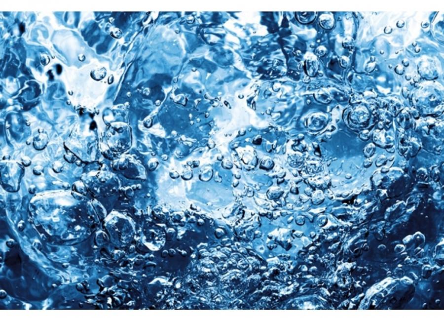 Fleece-kuvatapetti Sparkling water 225x250 cm