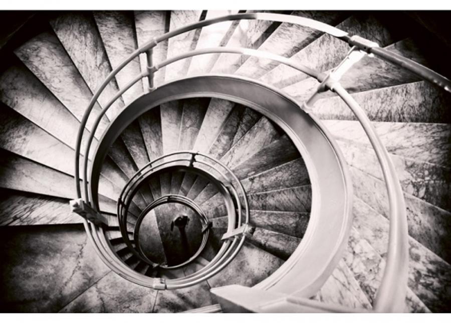 Fleece-kuvatapetti Spiral stairs 375x250 cm