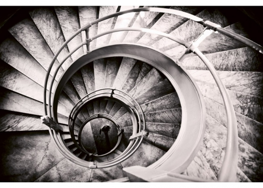 Fleece-kuvatapetti Spiral stairs 225x250 cm