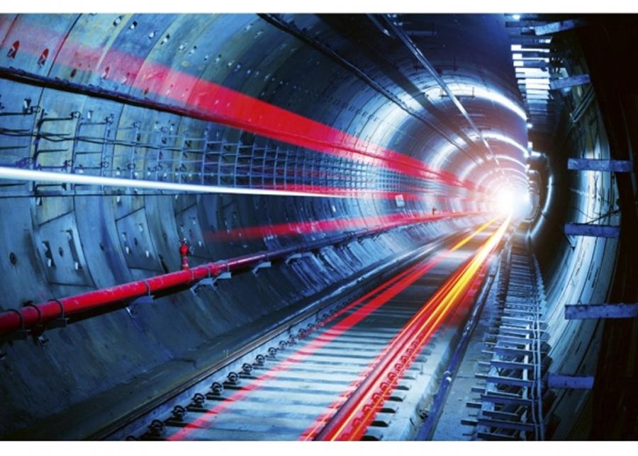 Fleece-kuvatapetti Tunneli 375x250 cm