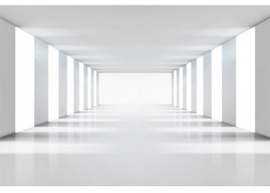 Fleece-kuvatapetti White corridor 375x250 cm