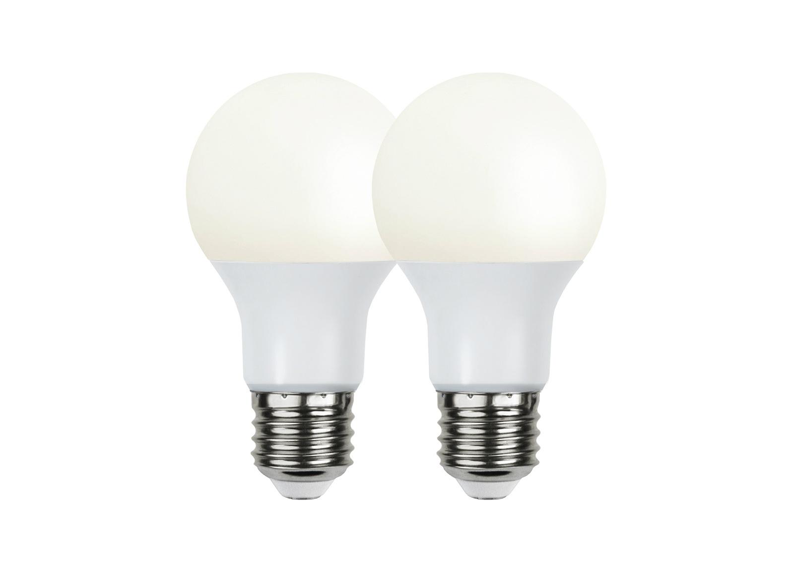 LED sähkölamppu E27 9 W (2 kpl)