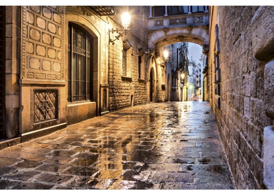 Fleece-kuvatapetti Ancient street 375x250 cm