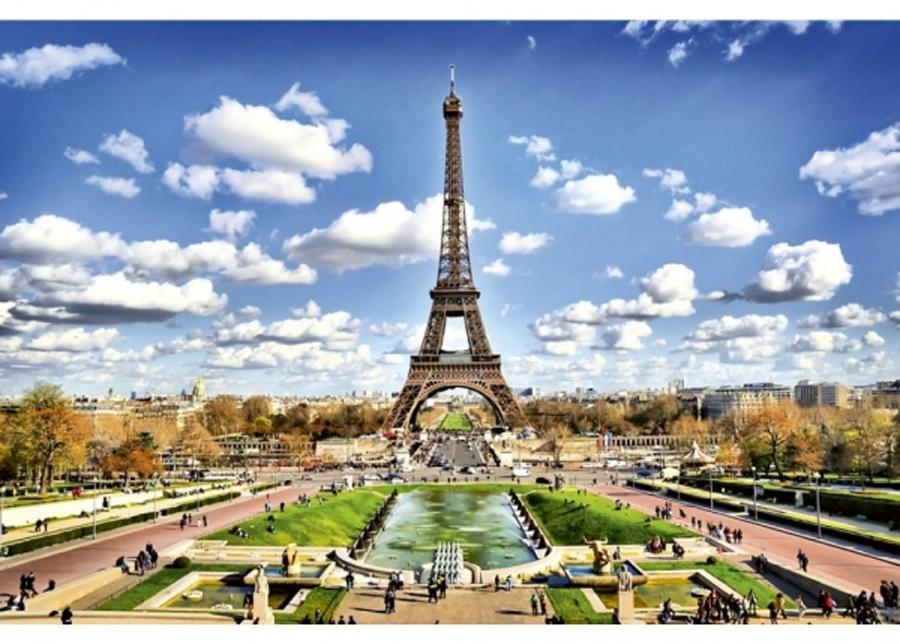 Fleece-kuvatapetti Paris 375x250 cm