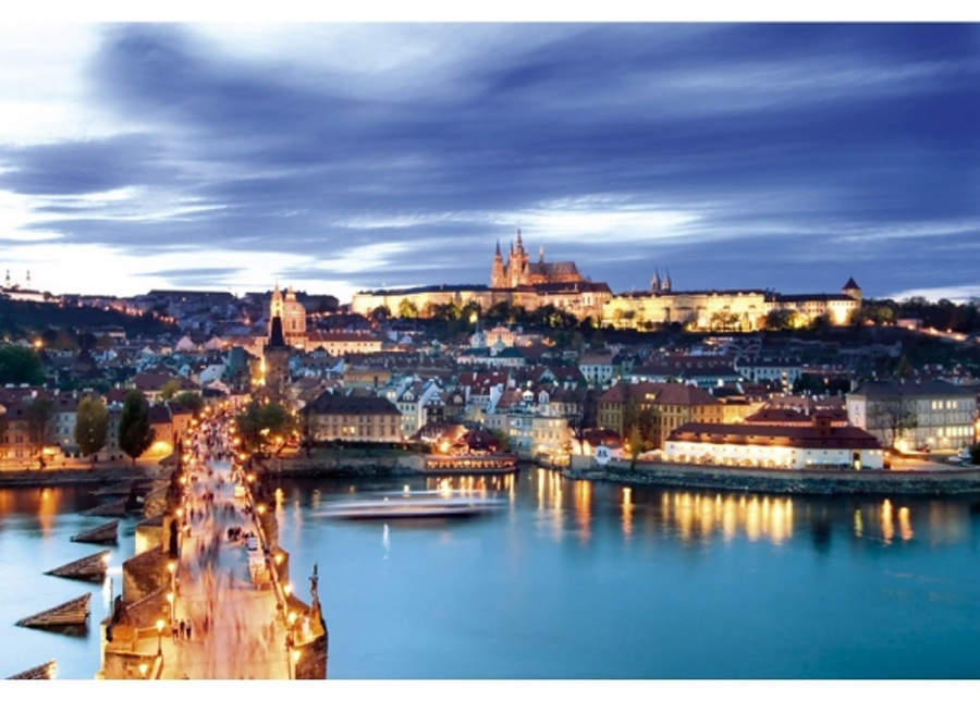 Fleece-kuvatapetti Prague 225x250 cm