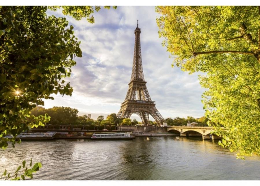 Fleece-kuvatapetti Seine in Paris 375x250 cm