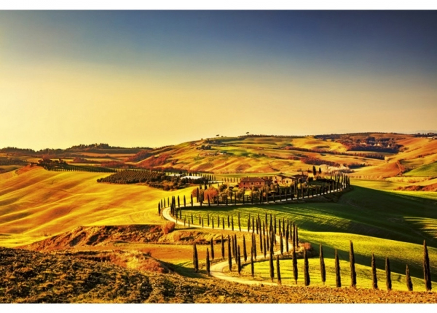 Fleece-kuvatapetti Tuscany 375x150 cm