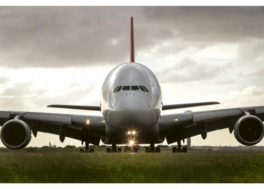 Fleece-kuvatapetti Airbus 375x250 cm