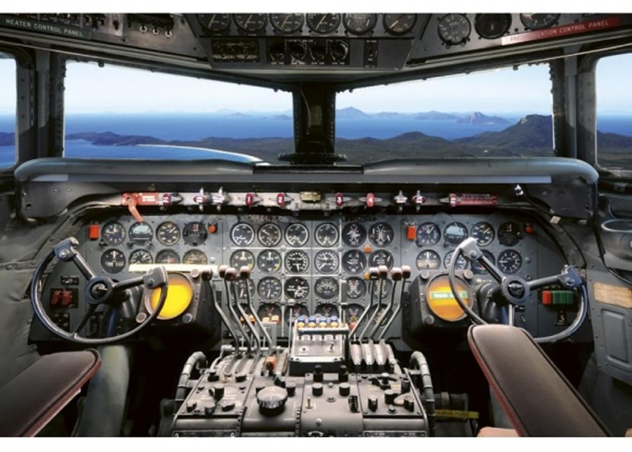 Fleece-kuvatapetti Cockpit view 375x250 cm