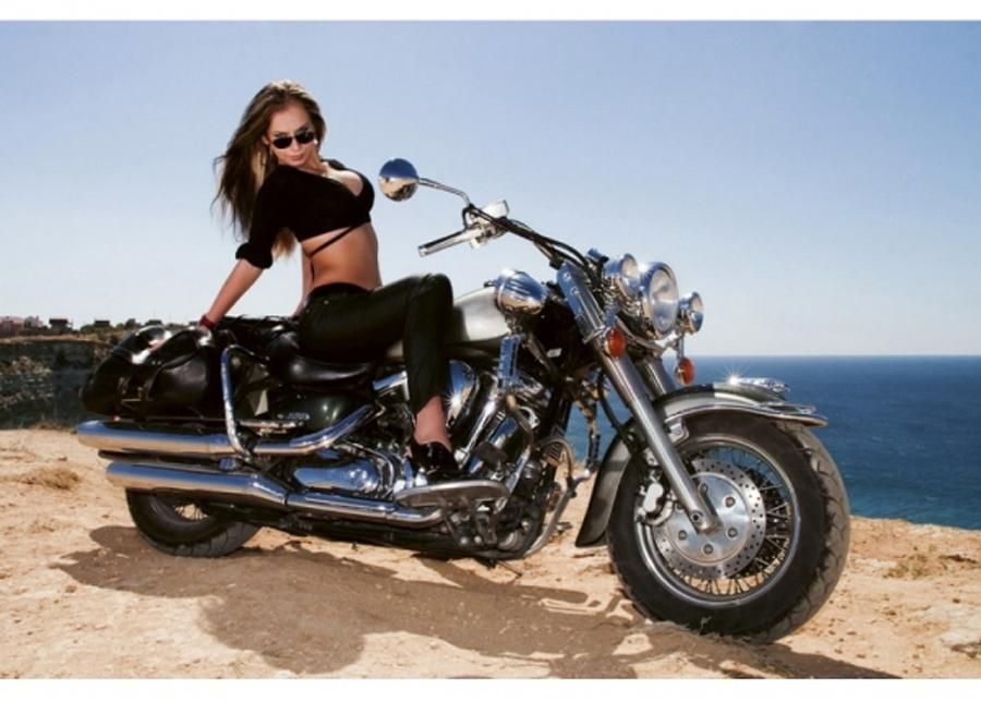 Fleece-kuvatapetti Motorcycle 375x250 cm