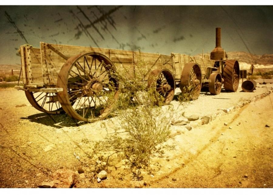 Fleece-kuvatapetti Old wagon 375x250 cm