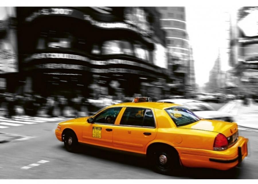 Fleece-kuvatapetti Taxi 225x250 cm