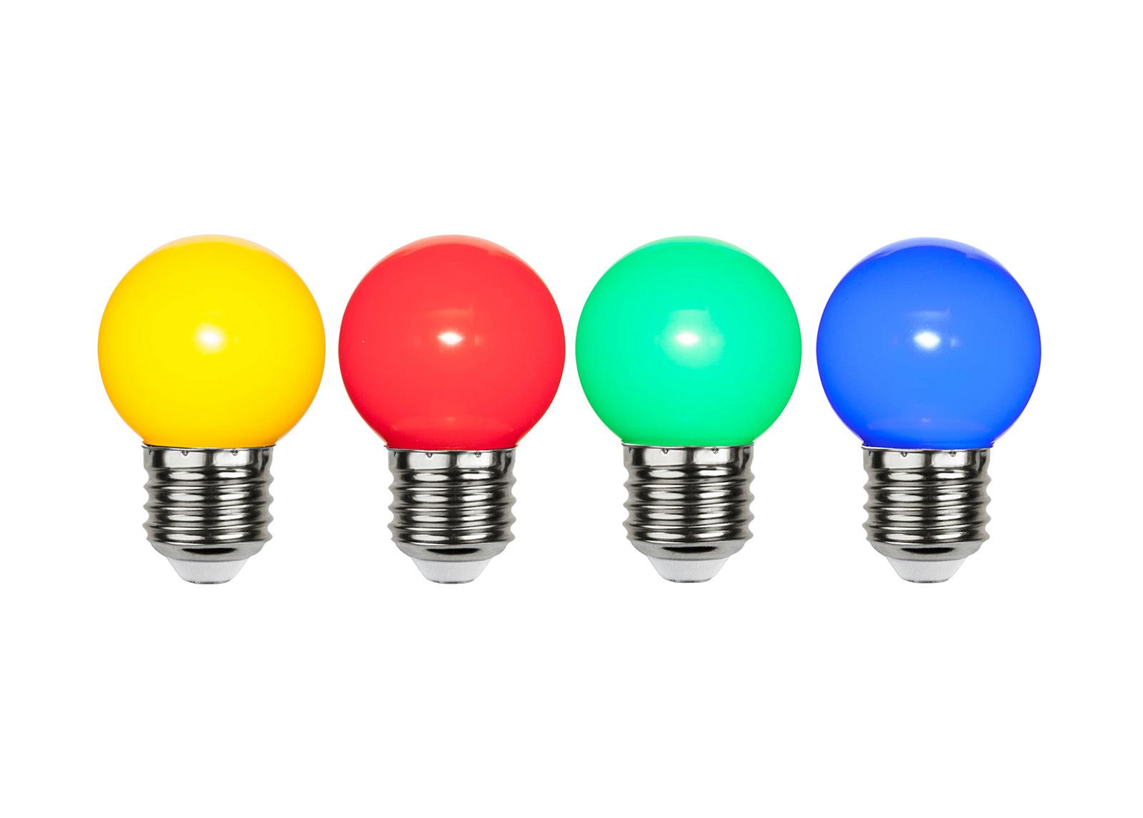 LED sähkölamput (4 kpl) E27 1 W