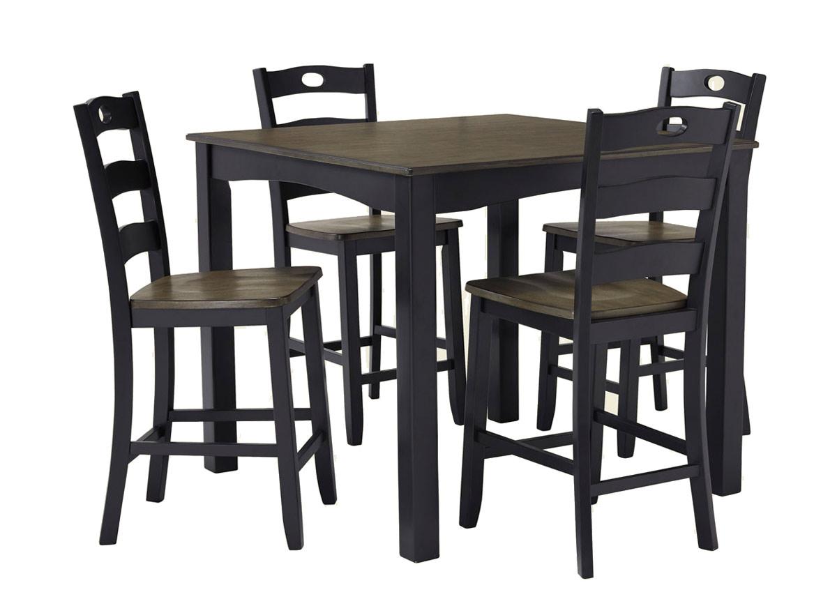 Baaripöytä 107x107 cm + 4 baarituolia