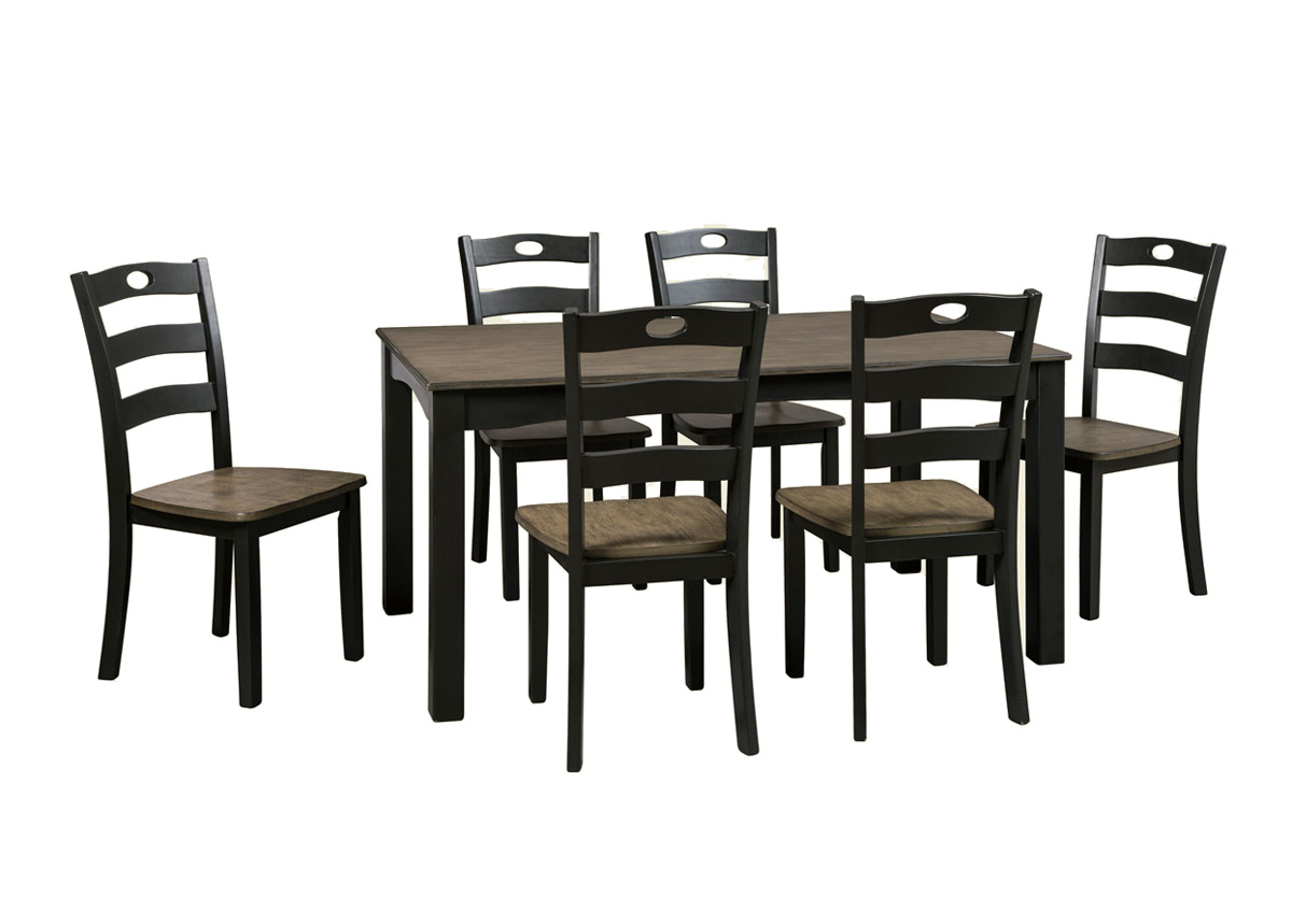 Ruokapöytä 152x91 cm + 6 tuolia