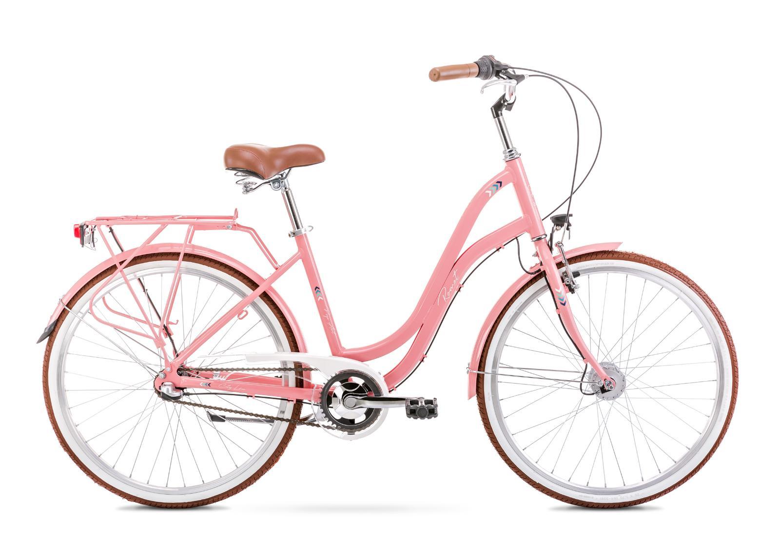 Naisten kaupunkipyörä 17 M POP ART 26 vaaleanpunainen