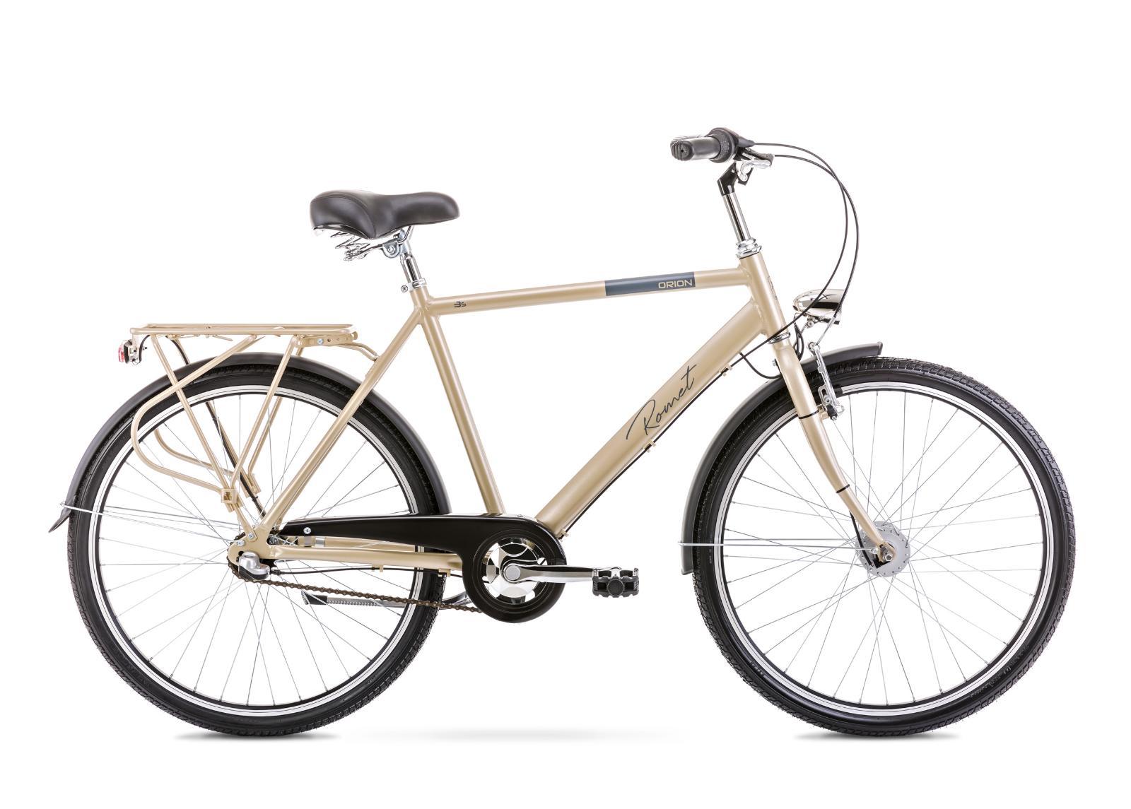 Miesten kaupunkipyörä 20 L ORION 3S keltainen