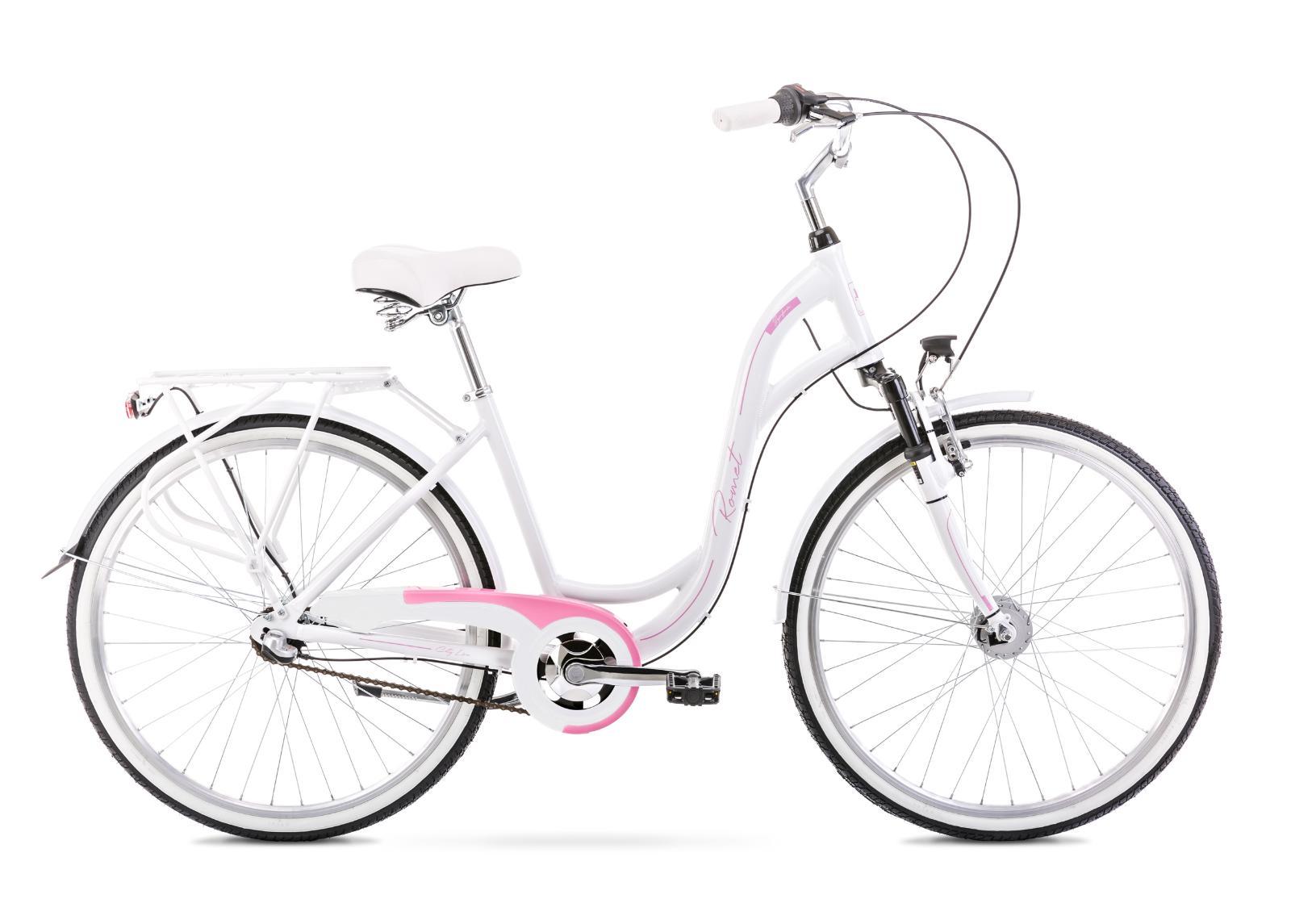 Naisten kaupunkipyörä 17 M SYMFONIA 2 valkoinen-roosa