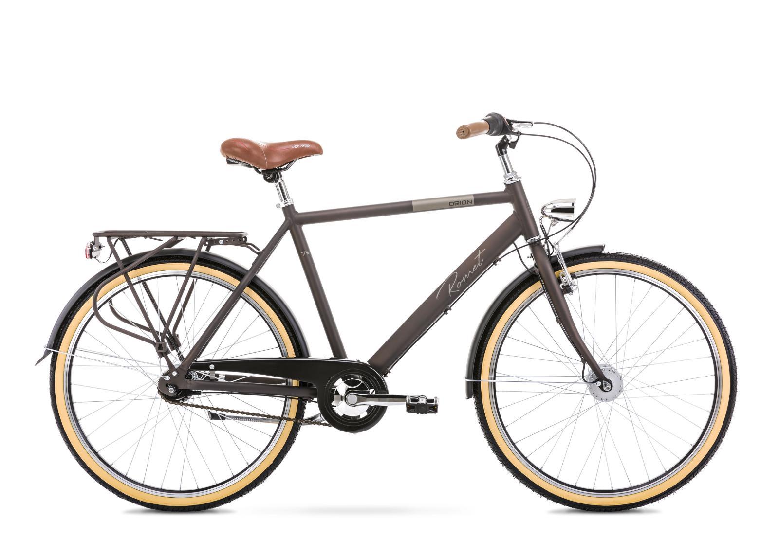 Miesten kaupunkipyörä 20 L ORION 7S ruskea
