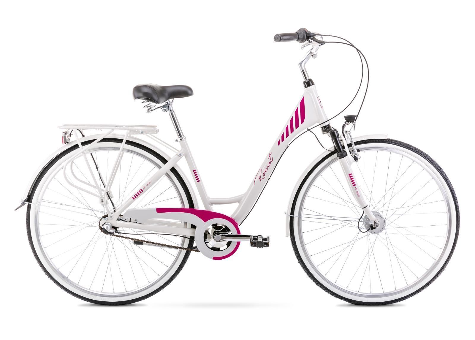 Naisten kaupunkipyörä 19 L ART DECO 3 harmaa-roosa
