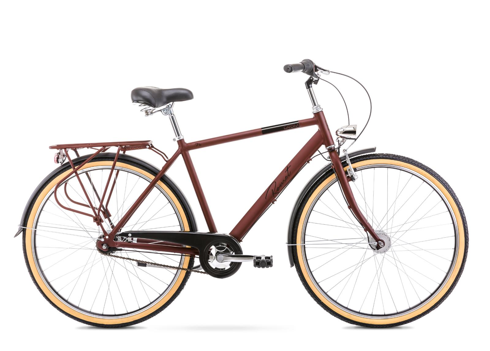 Miesten kaupunkipyörä 20 L GROM 7S ruskea