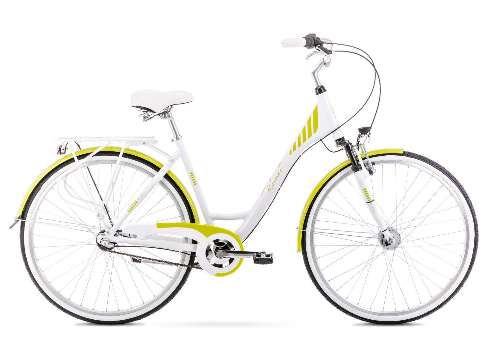 Naisten kaupunkipyörä 17 M ART DECO 3 valkoinen-vihreä