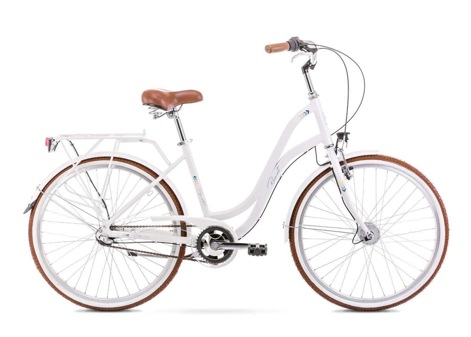 Naisten kaupunkipyörä 19 L POP ART 26 valkoinen