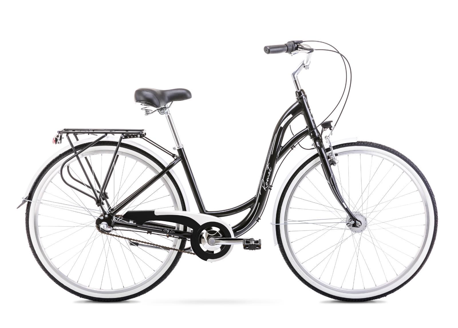 Naisten kaupunkipyörä 17 M SONATA 2 musta-valkoinen