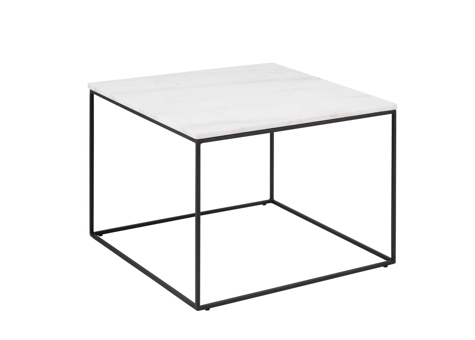 Sohvapöytä marmorilevyllä Bolton 60x60 cm