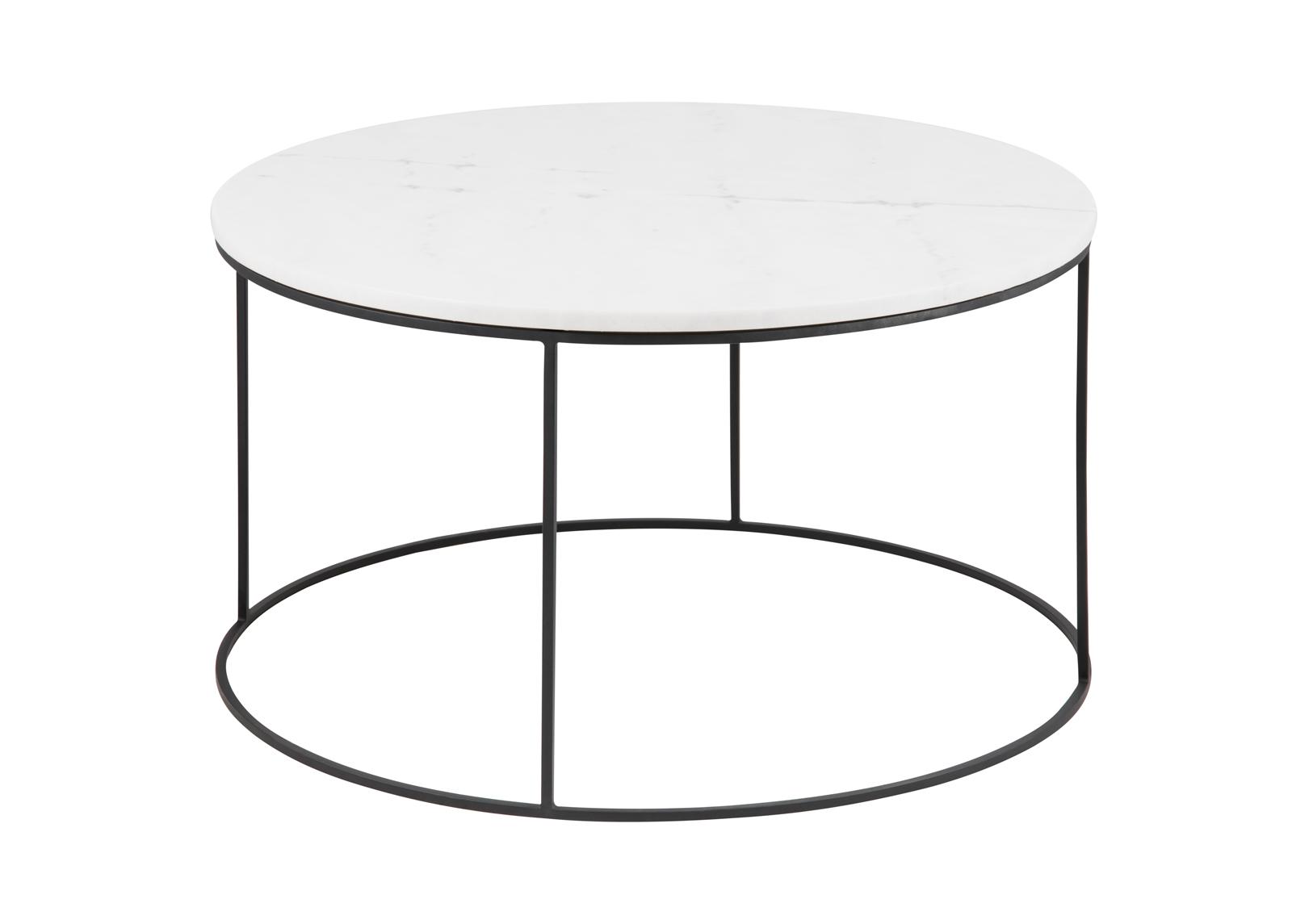 Sohvapöytä marmorilevyllä Bolton Ø 80 cm