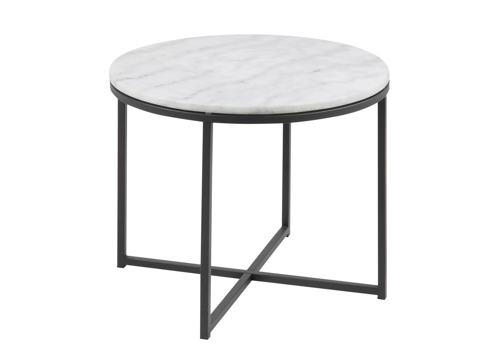 Sohvapöytä marmorilevyllä Cross Ø 55 cm